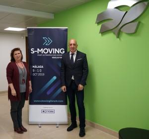 Firma convenio S-MOVING. Yolanda de Aguilar y Javier Noriega. 23-04-19